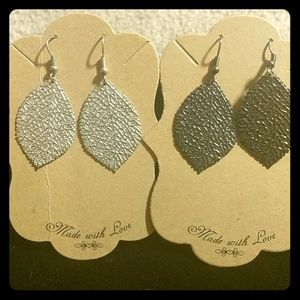 Silver and gold dipped Aspen leaf earrings